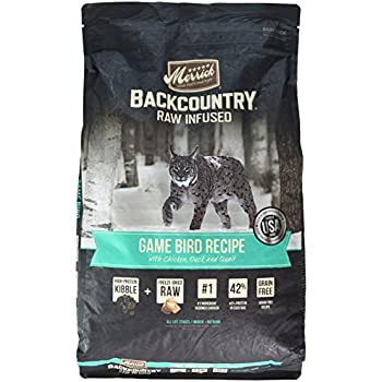 Merrick Backcountry Grain Free Raw Infused Game Bird Recipe Dry Cat Food, 10 lb.