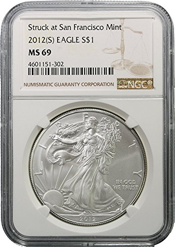 2012 (S) American Silver Eagle $1 MS69 NGC Brown Label