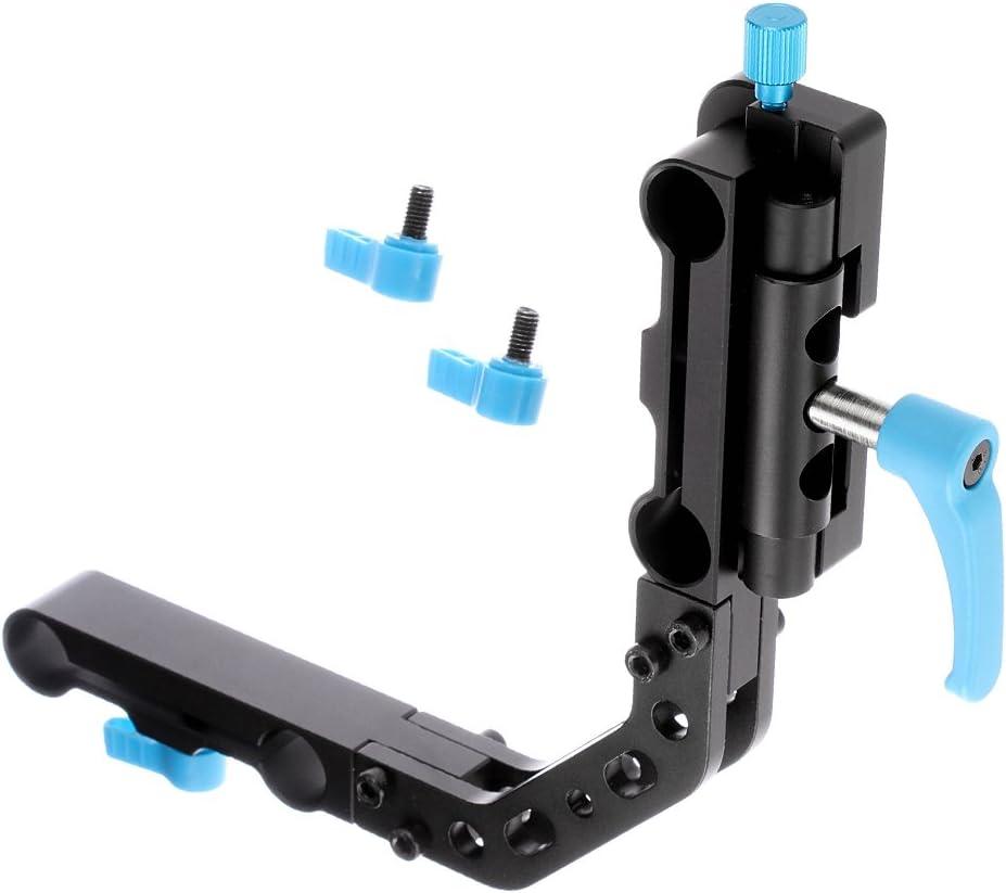 Color : Black Length JINGZ Handheld Gimbal Aluminum Alloy Extension Rod Tube for Feiyu 19-60cm Durable
