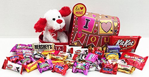 Unlocking Greatness You Are Loved Puppy and Chocolate Valentine Mailbox Gift Basket
