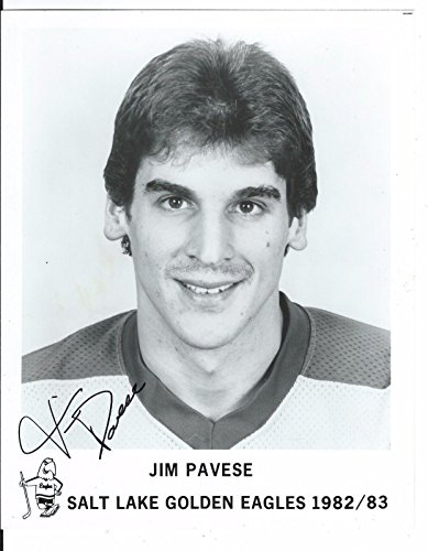 signed-jim-pavese-photo-salt-lake-golden-eagles-8x10-autographed-nhl-photos