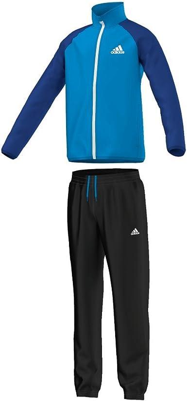 adidas YB TS Entry Ch - Chándal para niño, Color Azul/Negro/Blanco ...