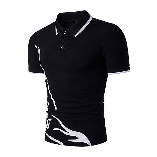 b1f2acb8 Caopixx Men's Blouse, Men Office Workwear Short Sleeve T-Shirt Casual Polo  Shirt Slim