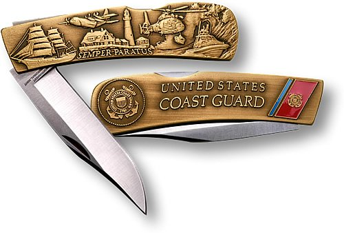 Coast Guard Lockback Knife – Small Bronze Antique, Outdoor Stuffs