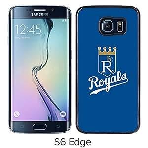 Kansas City Royals Logo Black Case for Samsung Galaxy S6 Edge Personalized CHG CASE