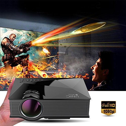 """LightInTheBox UC46 1200 Lumens WiFi Wireless Full Color 130"""" Image Pro Mini Portable LCD LED Home Theater Cinema Game Projector - Support HD 800x480P Video /IP/IR/USB/SD/HDMI/VGA"""