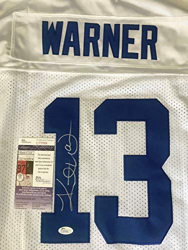 (Kurt Warner JSA Rams Autographed Signed Auto Autographed Jersey)