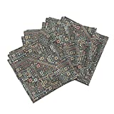 Circuit Robot Nerd Geek Computer Technology Science Linen Cotton Dinner Napkins Short Circuits (Coral and by Robyriker Set of 4 Dinner Napkins