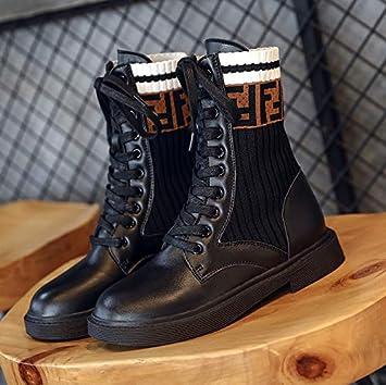 Shukun Botines Primavera de Tubo Corto y otoño Martin Boots Zapatos de Moda Estudiante de Moda Botas Finas: Amazon.es: Deportes y aire libre