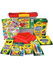 CRAYOLA Super Art Tub - Includes Caddy, Crayons, Colouring Book, Markers, and More! - 2020/2021 Latest Version