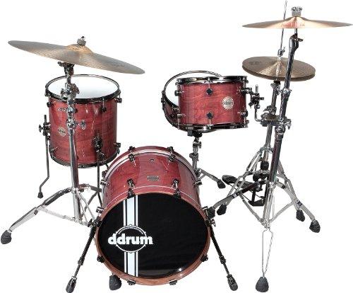 ddrum PWSE418 ER Paladin Walnut 4-Piece Drum Set, Ember Red