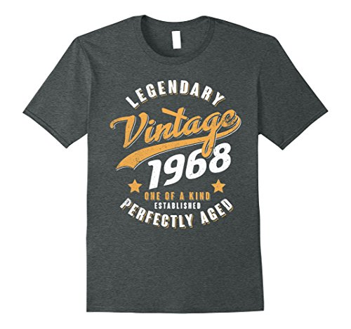 Mens Vintage 1968 50th birthday gift 50 years old 50 yrs XL Dark Heather (Birthday Gift For Gents)