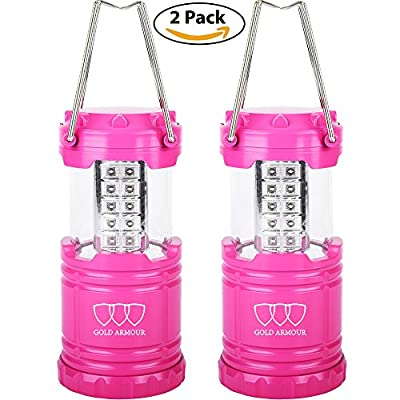 Camping Lantern - LED Lantern Lights (6 COLORS: BLACK, GRAY, BLUE, RED, PURPLE, PINK) Camping Gear Equipment for Outdoor, Hiking, Emergencies, Hurricanes, Outages