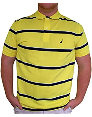 Men's Pique Alternating Stripe Polo Shirt