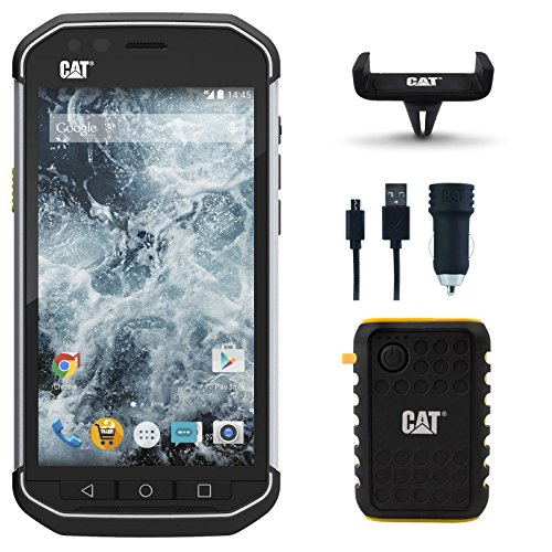 CAT PHONES S40 Rugged Waterproof Smartphone Bundle with Power Bank, Car Mount and Dual USB Car Charger