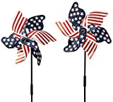 Fox Valley Traders 315356 Patriotic Set of 2 Pinwheel, One Size Fits Gallon, Multicolor