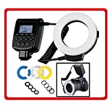 BiG DIGITAL 48 Led Ring Light Flash for Macro & Close-up Photography (Clear, Warming, Blue, White Diffusers) For Canon Fuji, Fujifilm, Nikon, Panasonic, Pentax, Olympus, Samsung, Sony (With the new Multi-Interface MI Hot Shoe) Digital SLR Cameras -- Carl Zeiss, Sigma, Tamron, Tokina, Lenses (Includes Rings For 49mm, 52mm, 55mm, 58mm, 62mm, 67mm, 72mm, 77mm Lens Thread)