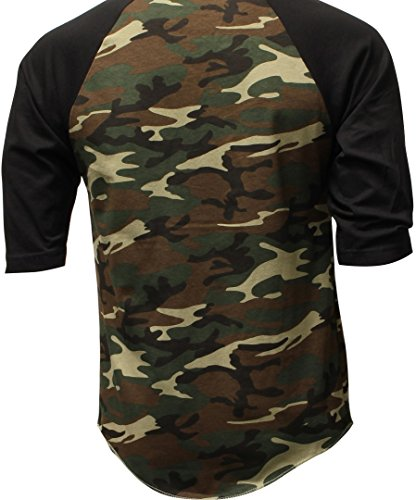 Dealstock Casual Raglan Mens 3 4 Sleeve Tshirt Baseball