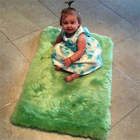 Genuine Irish Sheepskin Rug for Babies