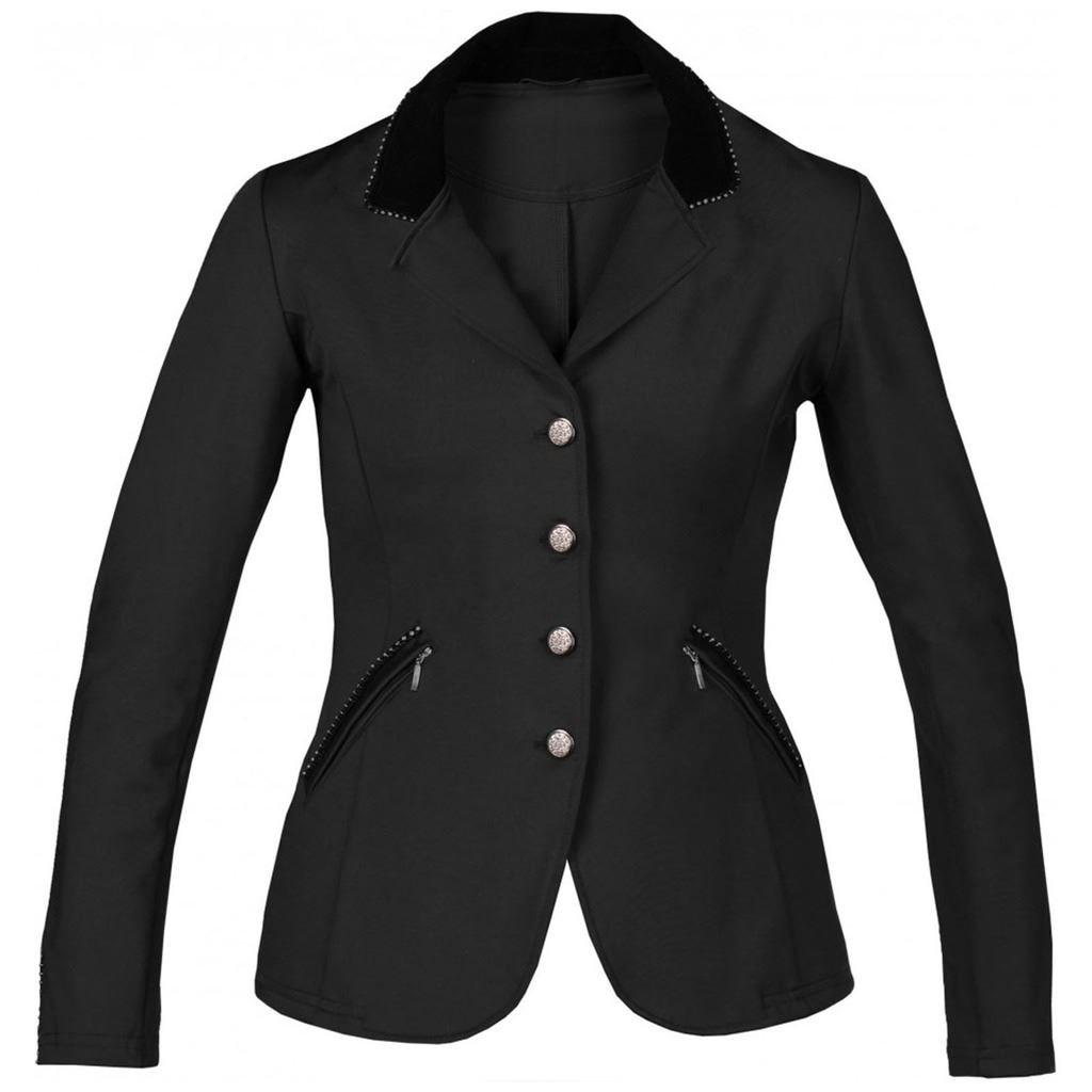 Horka Ladies Piaffe Strass Velvet Collar Comfort Equitazione Competition Jacket