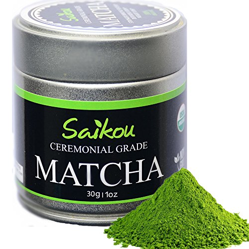 Japanese Matcha Green Tea Powder - Authentic Organic Ceremonial Grade 1st Harvest Highest Quality - Slim Tea. Weight Loss. Superfood. Perfect for Tea Ceremonies - 1oz Tin