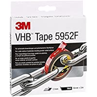 3M VHB 5952 Adhesive Tape Simple Permanent Bonding with Double Coated Tape, Filmic Liner, 19 mm x 3 m, Black, 1 x Roll of Tape