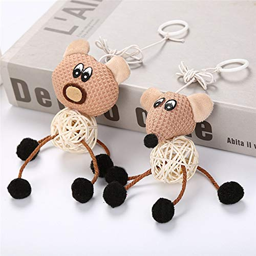 Best Quality New Mouse Bear Style cat Rattan Ball Funny cat Teaser with Bell Random Style delivery Puppy Animals Chewing Toys 2018