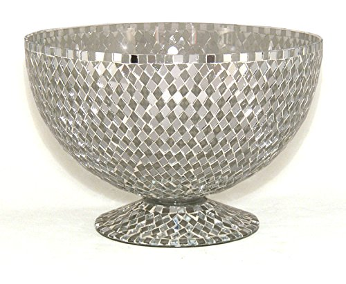- Home Decoration Accessories Bowl Vase Mosaic Mirror and Clear Diamond Shaped Glass Pieces 10
