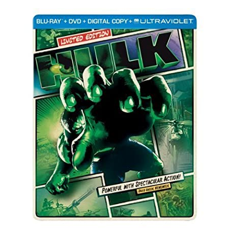 Hulk (Steelbook) (Blu-ray + DVD + Digital Copy + UltraViolet) by Universal Studios by Ang Lee (Universal Studios Steelbook)