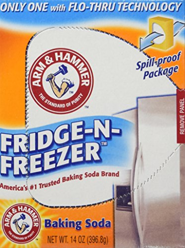 Arm & Hammer Baking Soda, Fridge-N-Freezer Pack, Odor Absorber, 14oz (Pack of 6)