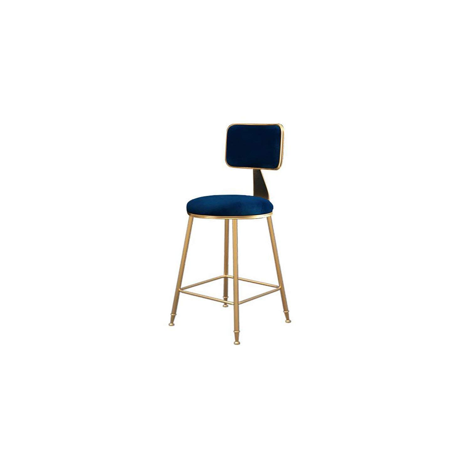 45cm Style21 tthappy76 Nordic Wrought Iron Bar Stool Modern Minimalist Home Backrest Dining Chair High Stool Cafe Bar Stool Bar Stool,65Cm Style19