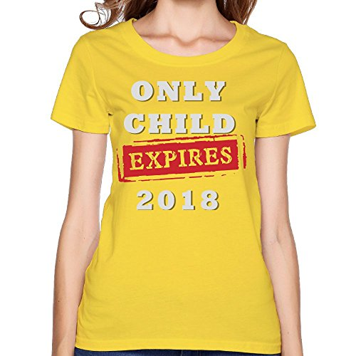 Only Child Expires 2018 Custom Womens Sleeve Custom Cotton Sweatshirt Top Yellow L