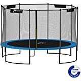 Kangaroo Hoppers 12-Feet Round Trampoline with Safety Net Enclosure and Spring Pad