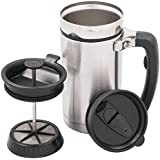 Planetary Design Stainless Steel Desk Press Travel French Press Chrome Mug