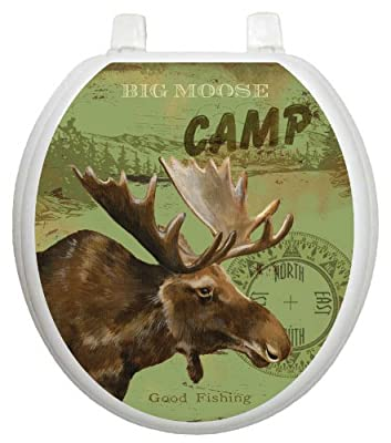 Toilet Tattoos, Toilet Seat Cover Decal, Moose Lodge, Size Round/standard