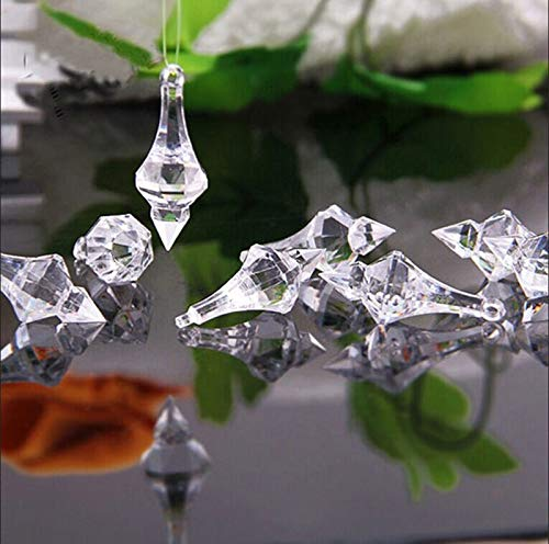 Eaglers Beaded Garland 20Pcs/lot Clear Crystal Acrylic Beads Pandent Wedding Prom Home Chandelier from Eaglers