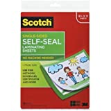 Scotch Laminating Sheets LS854SS-10, 9 Inches x 12 Inches, Letter Size, Single Sided, 4-PACK