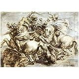 The Battle Anghiari After Leonardo da Vinci Peter Paul Rubens Art Print, 24 x 18 inches