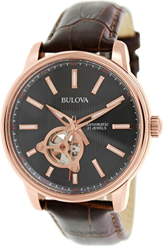 Bulova Men's Analog Watch Brown 97A109
