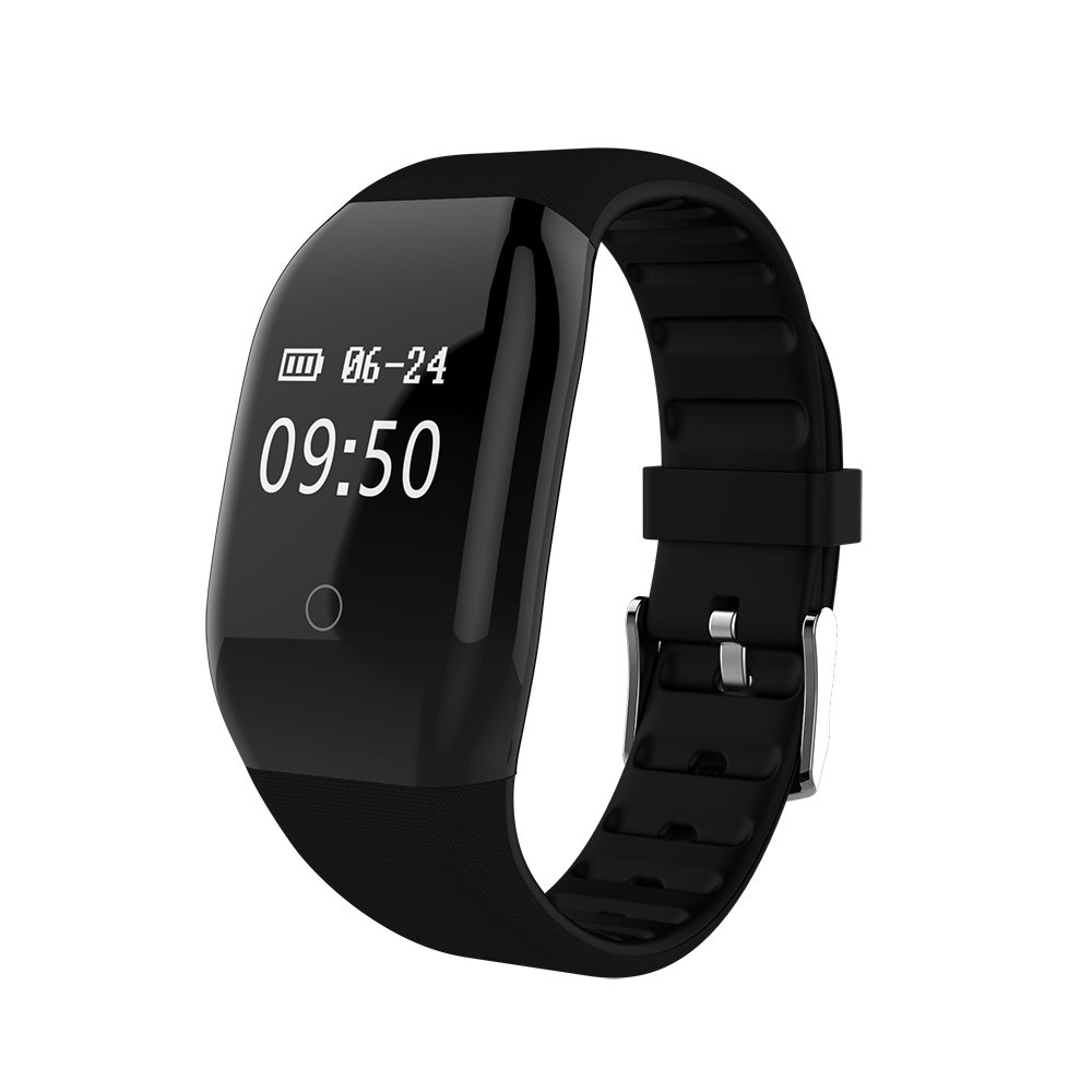 DEXUNWEI Fitness Tracker with Heart Rate 608HR 0.66 OLED 4.0 Bluetooth IP67 Waterproof and Dustproof Sports Wristband Sleep Monitor Flip Screen for Android and IOS (Black) by DEXUNWEI (Image #1)