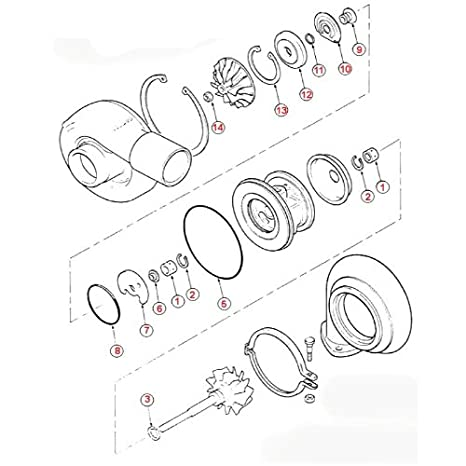 Amazon Com Turbo Rebuild Kit Repair Kit For Kubota A47bt Mitsubishi