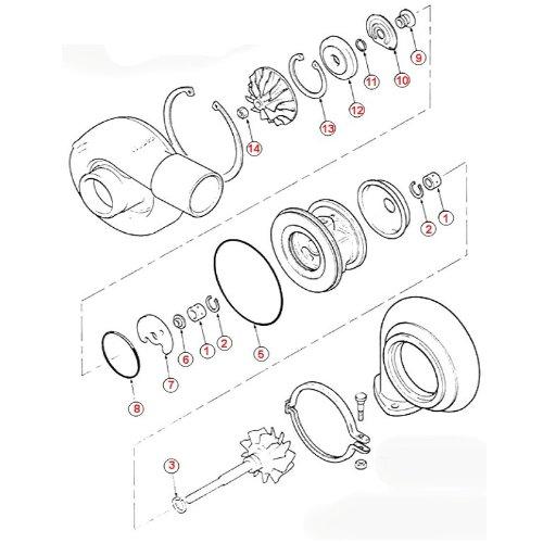 Amazon Com Turbo Rebuild Kit Repair Kit For Mitsubishi Td04 Te04h