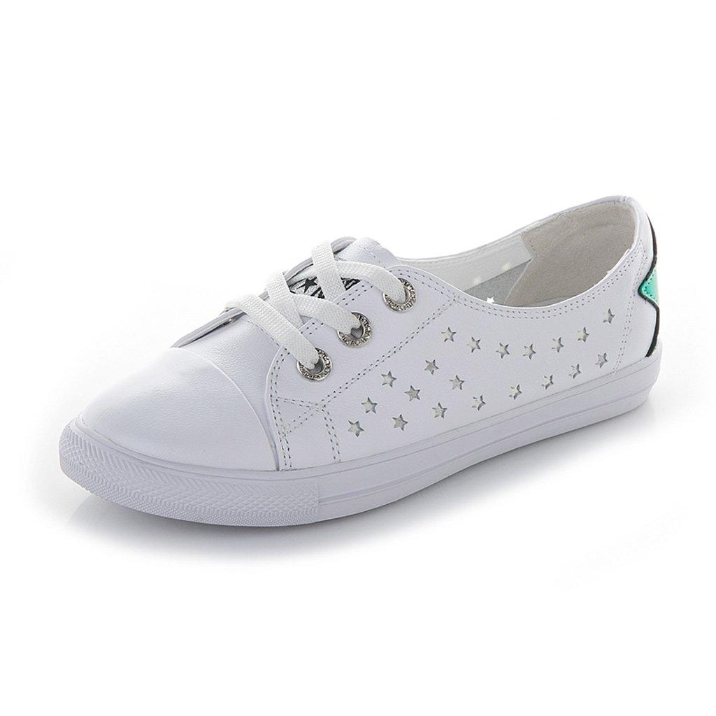 Sandalo Superficiale Bocca Superficiale Sandalo Piccole Scarpe Bianche Donna Vera Vera   abb7c2