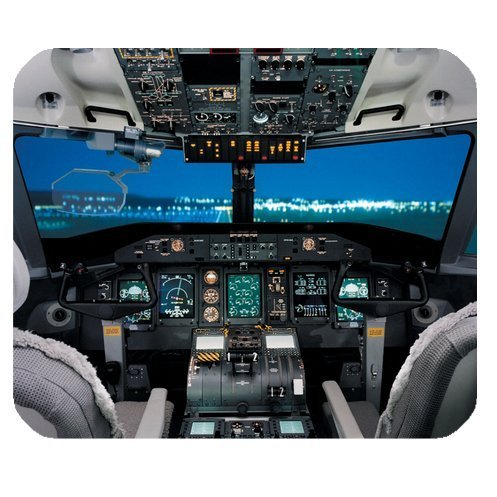 "Airplane Cockpit / Aircraft Cockpit Cloth Cover Rectangle Mouse Pad 9.84""x7.87"""