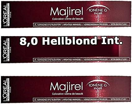 LOréal Professionnel Majirel Ionène G Coloración Crema 8.0 ...