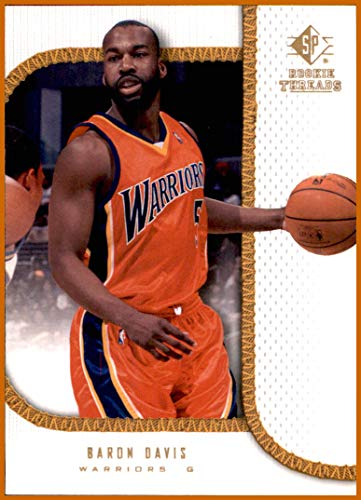 Davis Baron Warriors (2007-08 SP Rookie Threads #5 Baron Davis GOLDEN STATE WARRIORS)
