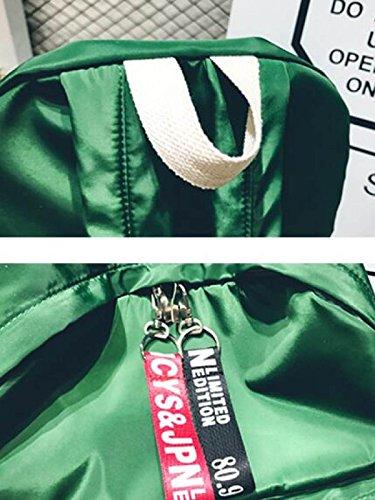 FZHLY Estudiantes Estilo Coreano Bolsa De Personalidad Creativa Simple Mochila,White Black