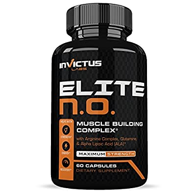 Nitric Oxide Supplement – Extra Strength NO Booster with L Arginine, For Stronger Leaner Muscles - Amino and Metabolic Formulas - Increase Endurance, Energy and Power – 120 Caps