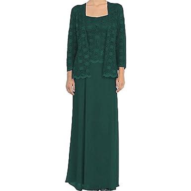 c00a3345b9510 Shushaliying Women s Shiny Long Sleeves Prom Dresses Chiffon Plus Size  Mother of Bridal Dresses with Jacket