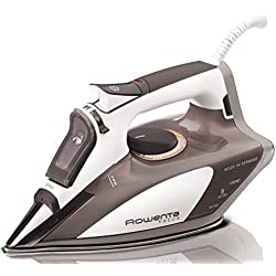 Rowenta Steam Iron, Stainless Steel Soleplate with Auto-Off, Brown